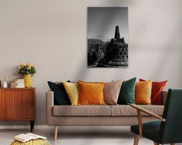 uitzicht op Borobudur van Floor Schreurs