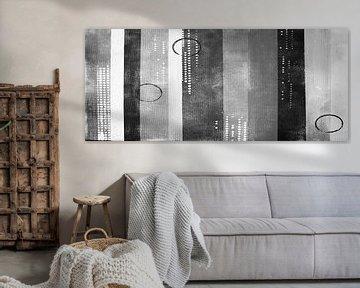 Schwarz Moderne Linien von Kathleen Artist Fine Art