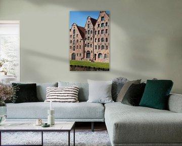Alte Lagerhäuser im Zentrum von Lübeck, Deutschland von Joost Adriaanse