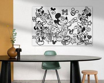 """Mickey Mouse """"Musikant"""" von Kathleen Artist Fine Art"""
