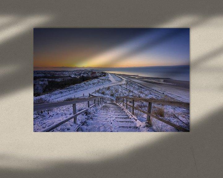 Sfeerimpressie: Zoutelande in de sneeuw van Thom Brouwer