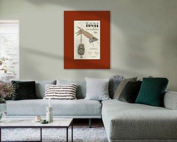 De Handtas - Historische Art Deco Schets prent van NOONY
