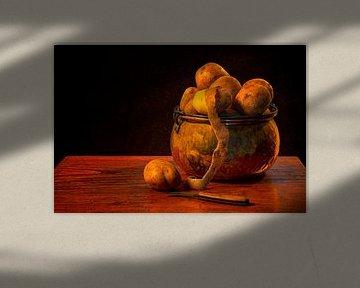 Une nature morte : Pommes de terre sur Carola Schellekens