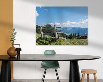 Uitzicht over de Alpen in het Salzburger Land in Oostenrijk van Animaflora PicsStock