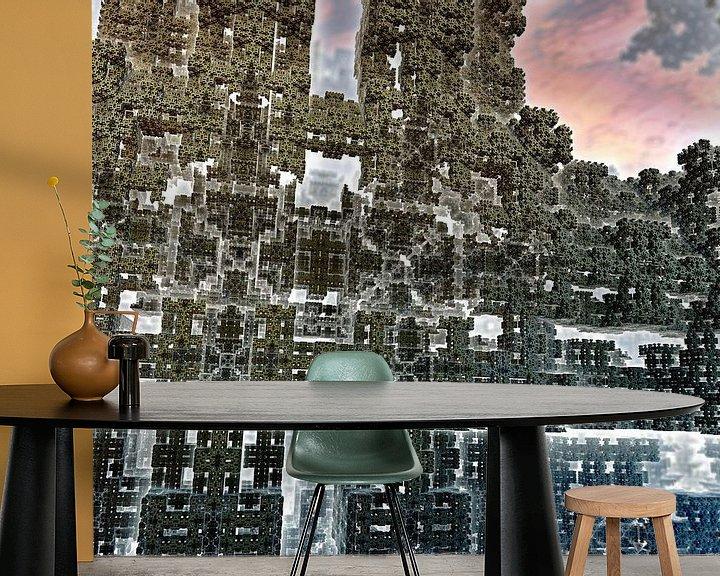 Sfeerimpressie behang: Reuze amandel bol puzzel van Frank Heinz