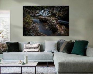 Scotland water and stones van Digitale Schilderijen