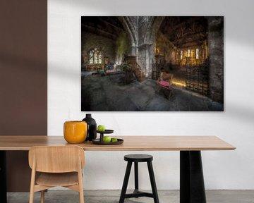 St Aidan's Church in Bamburgh van Digitale Schilderijen
