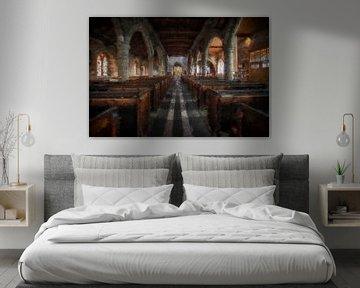 St Aidan's church Bamburgh van Digitale Schilderijen