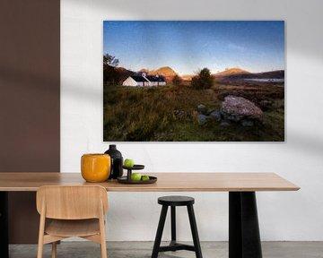 Schotland wit huis met uitzicht van Digitale Schilderijen