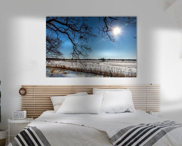Sfeerimpressie: Historisch Winters Landschap in Amerongen van Jacques Jullens