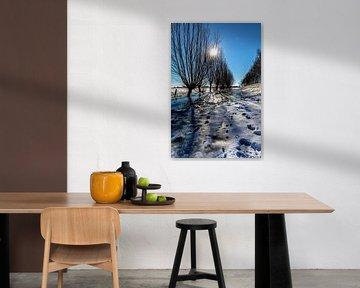 Paysage hivernal historique à Amerongen sur Jacques Jullens