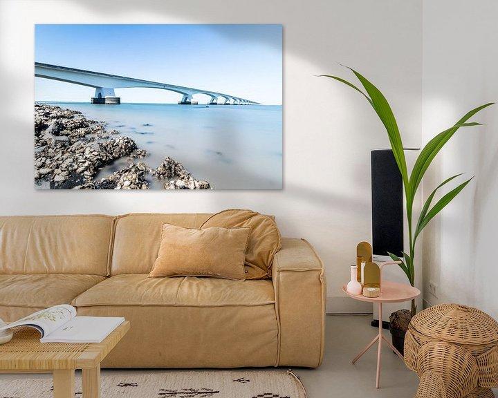 Sfeerimpressie: De Zeelandbrug in grijs en blauw van Josephine Huibregtse