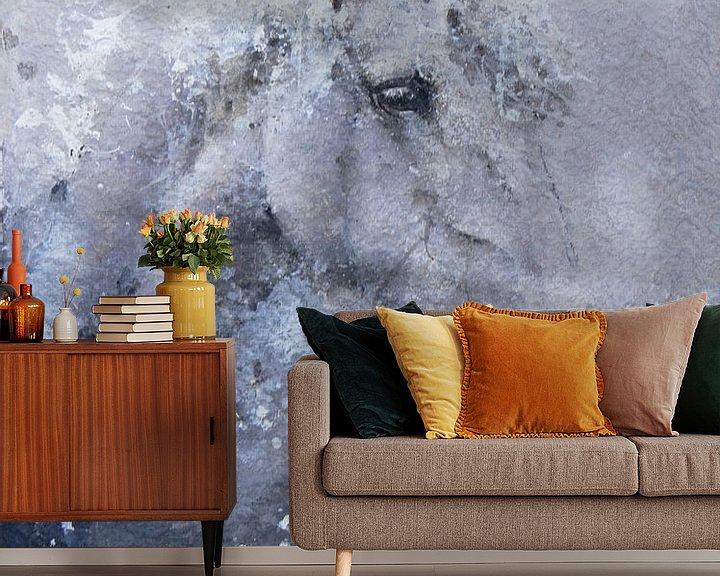 Sfeerimpressie behang: Paard van Peter van Loenhout