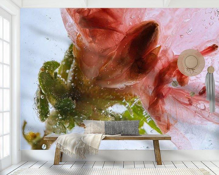 Beispiel fototapete: Azalee in kristallklarem Eis 3 von Marc Heiligenstein