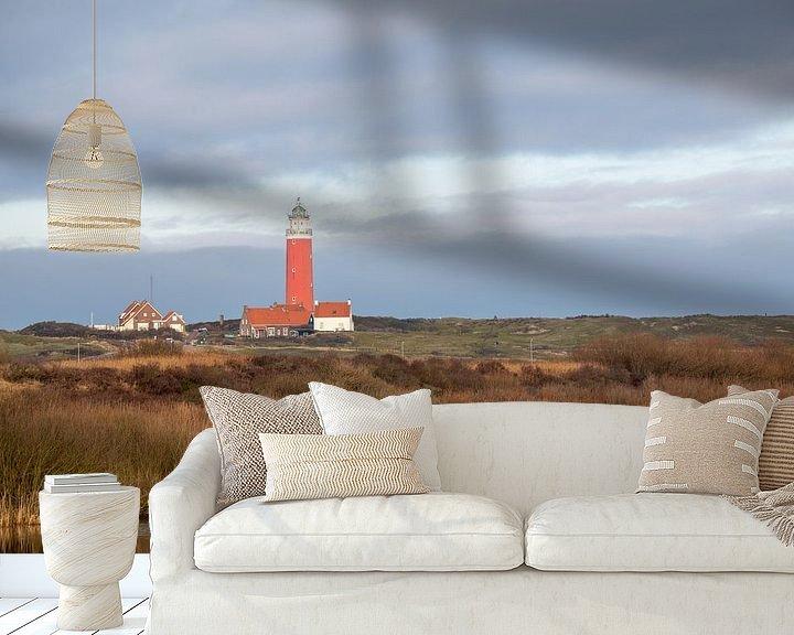 Beispiel fototapete: Leuchtturm von Texel von Ed Klungers