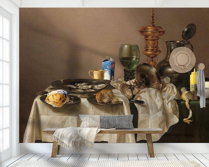 Beispiel fototapete: Stilleven met Vergulde Bokaal - (The What a Mess Edition) von Marja van den Hurk