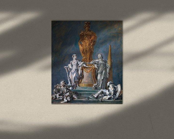 Beispiel: Studie für ein Denkmal für eine fürstliche Figur, François Boucher von Atelier Liesjes
