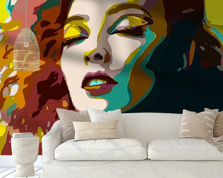 Sfeerimpressie behang: If you want trouble... Find yourself a redhead! van The Art Kroep