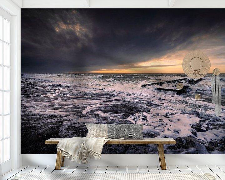 Beispiel fototapete: Decks Dunkel (Sturm Westkapelle) von Thom Brouwer