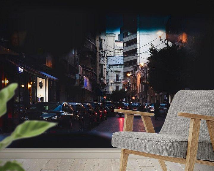 Sfeerimpressie behang: De avond valt in Beirut, Libanon van Moniek Kuipers