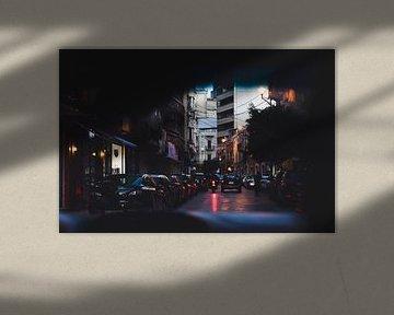 La nuit tombe à Beyrouth, au Liban sur Moniek Kuipers