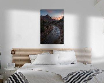 Zions sunset twee van Remco van Adrichem