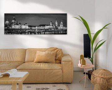 Panorama van Dresden in zwart-wit van Henk Meijer Photography