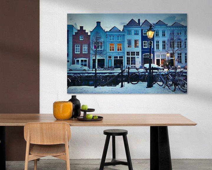 Sfeerimpressie: De Brede Haven van Den Bosch in winterse sferen van Jasper van de Gein Photography