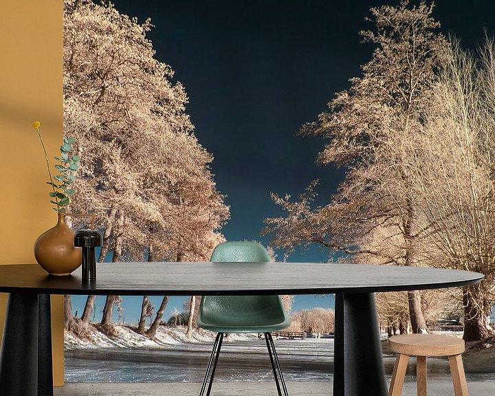 Sfeerimpressie behang: Winterlandschap van Lex Schulte