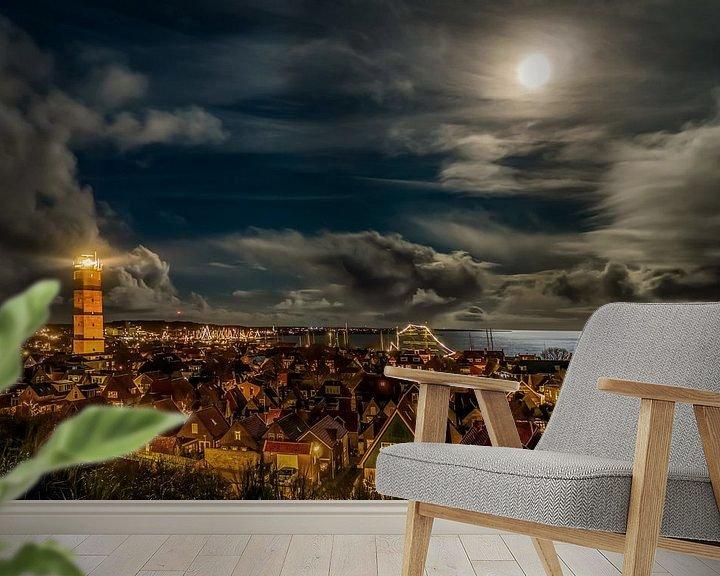 Sfeerimpressie behang: Cloudy Evening van Marjolein van Roosmalen