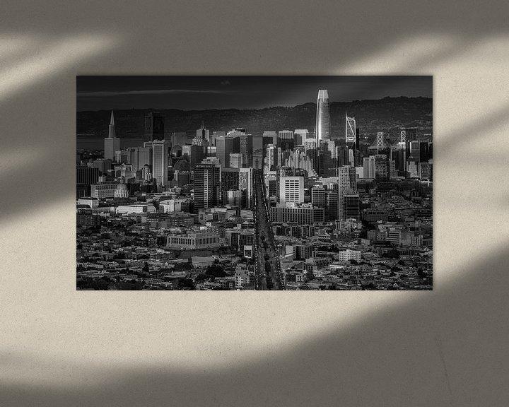 Sfeerimpressie: San Francisco van Photo Wall Decoration