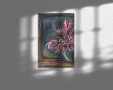 Stillleben Vase mit Blumen von Henriëtte Mosselman