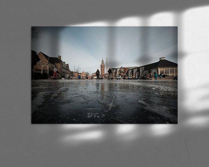 Sfeerimpressie: Nieuwkoopse Plassen in de winter met ijs van Arie Bon