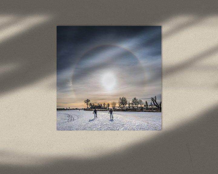 Beispiel: Winteransicht von Friesland bei TerGracht von Harrie Muis