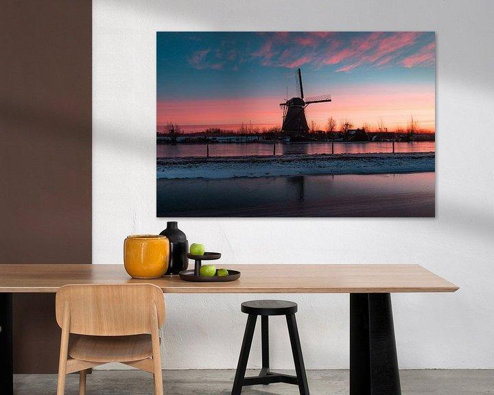 Sfeerimpressie: Kinderdijk winter 3 van Nuance Beeld