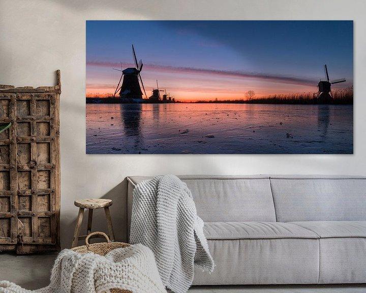 Sfeerimpressie: Kinderdijk winter 7 van Nuance Beeld