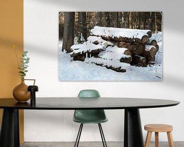 Sneeuw bossen Lage Vuursche van Inge Hogenbijl