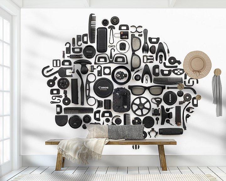 Beispiel fototapete: Schwarzes Plastik-Zeug von Floris Kok