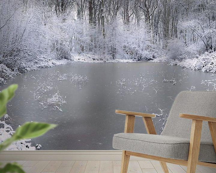 Sfeerimpressie behang: Cold as ice van Wim van D