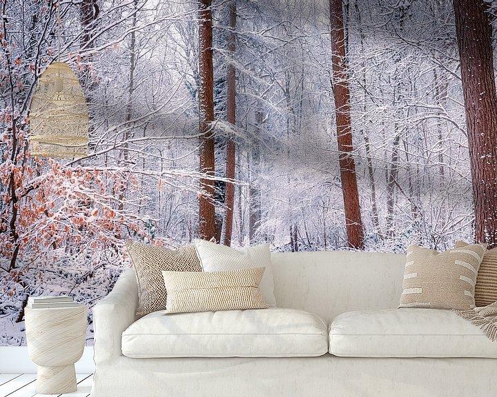 Sfeerimpressie behang: Love winter van Wim van D