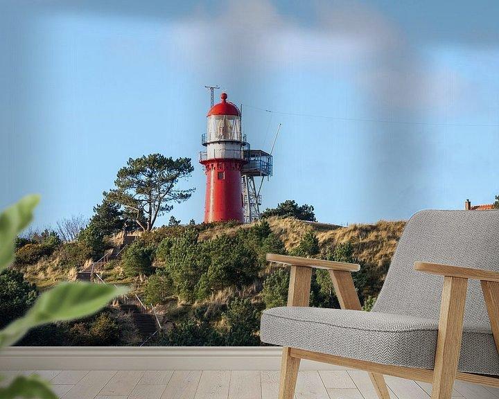 Sfeerimpressie behang: De kabouter, vuurtoren van Vlieland van Natasja Claessens