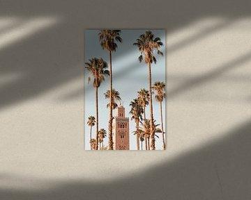 Marrakech - Koutoubia moskee tussen de palmbomen van Leonie Zaytoune