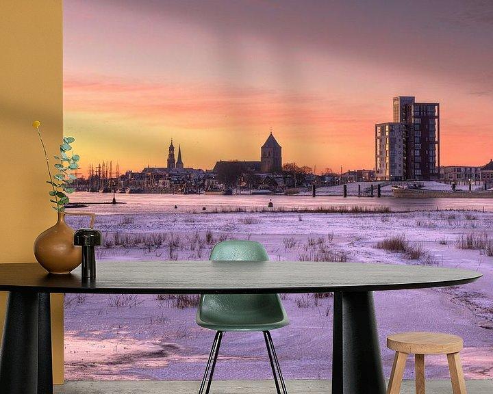 Impression: Le paysage urbain de Kampen dans la neige sur Fotografie Ronald