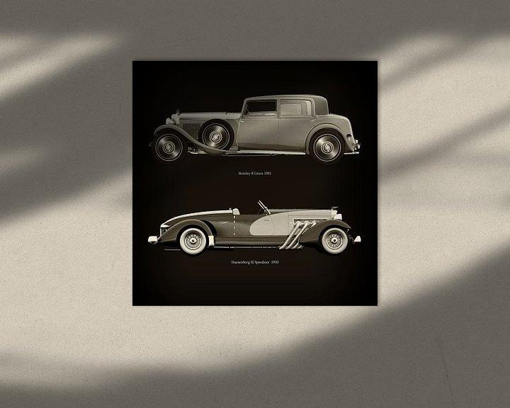 Sfeerimpressie: Bentley 8 Liters 1931 en Duesenberg SJ Speedster 1933 van Jan Keteleer