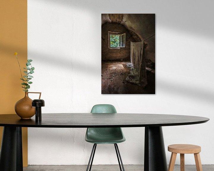 Beispiel: Die hängende Leinwand in einem verlassenen Haus von Digitale Schilderijen