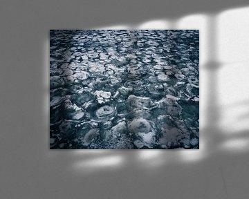Ijs textuur, Gooimeer, Nederland van Thousandtravelmiles