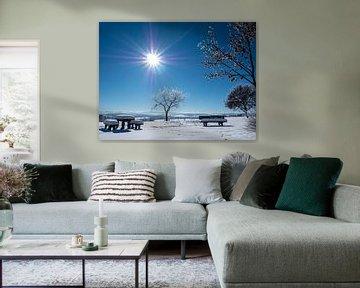 Winterlandschap in het Erzgebirge met prachtig weer van Animaflora PicsStock