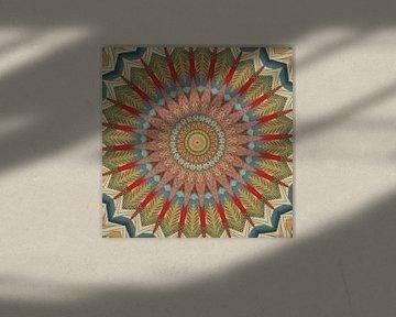 Mandala herfstbladeren van Christine Bässler
