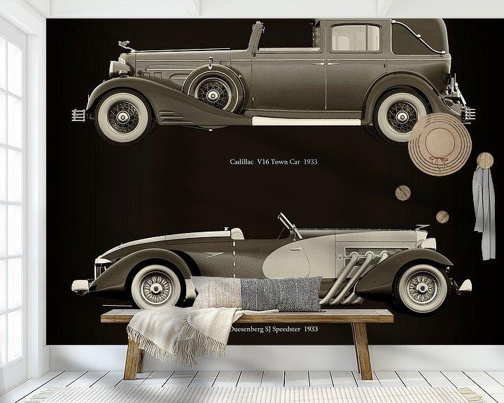 Impression: Cadillac V16 Town Car 1933 et Duesenberg SJ Speedster 1933 sur Jan Keteleer