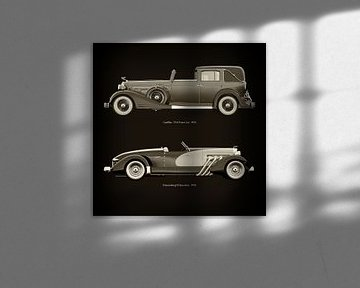 Cadillac V16 Town Car 1933 en Duesenberg SJ Speedster 1933